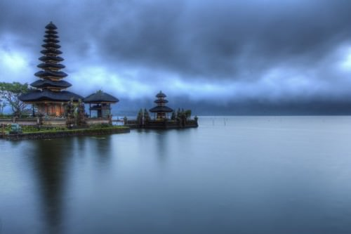 Ulun Temple at blue hour