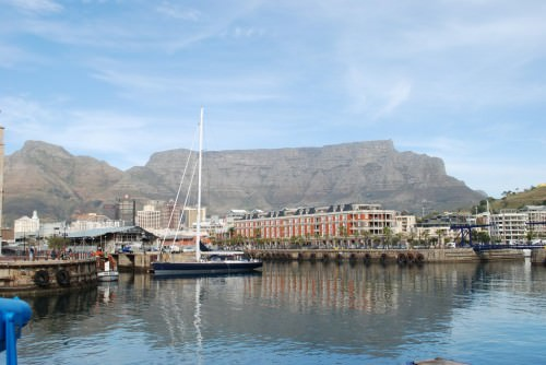 Table Mountain viewed from  V&A Waterfront, Cape Town