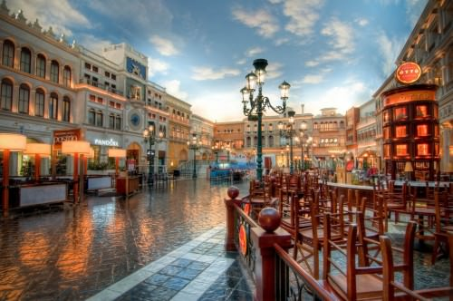 Piazza at the Venetian