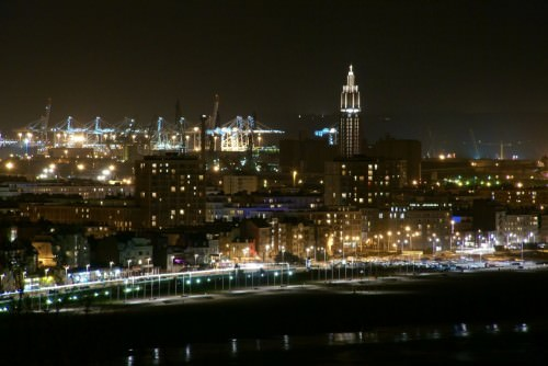 Le Havre at night