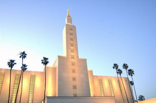 Los Angeles California Temple, Dusk