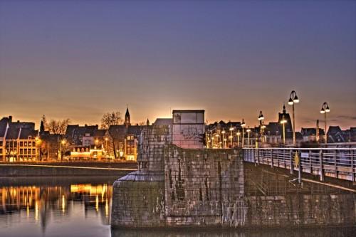 Saint Servatius Bridge of Maastricht in the Evening