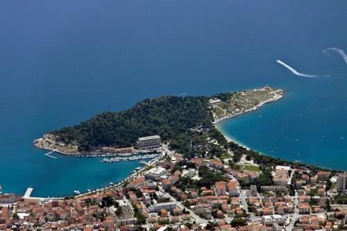 View from Štrbina (1338m a.s.l.) to Sveti Petar, Makarska