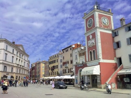Tito Square in Old Town of Rovinj