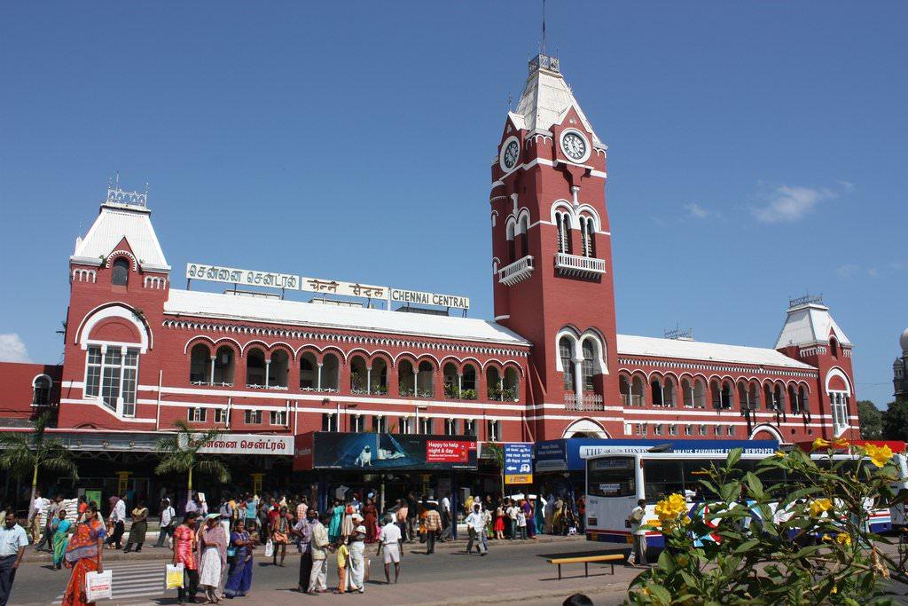 Chennai train station Large Chennai Maps for