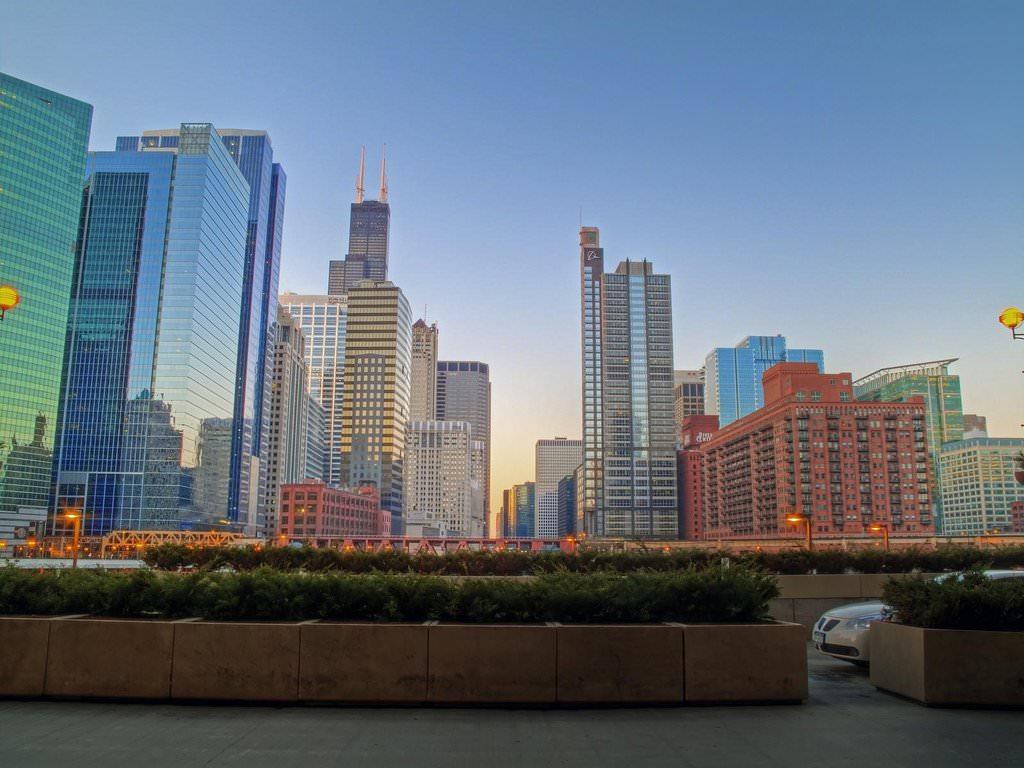 Обои skyline, чикаго, сша, one prudential plaza, chicago. Города foto 14