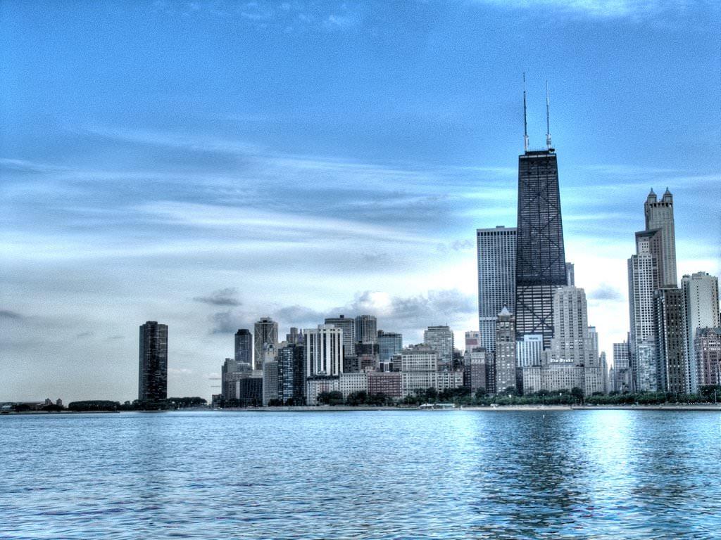 Обои skyline, чикаго, сша, one prudential plaza, chicago. Города foto 16