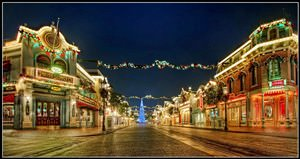 Mickey Wreaths and the Great Big Tree on Main Street USA