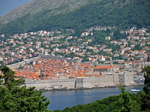 view of Dubrovnik from Fort Royal Castle