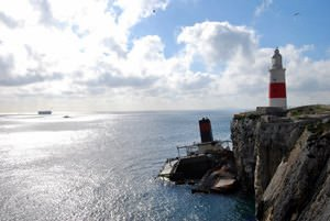 Lighthouse & Shipwreck, Gibraltar