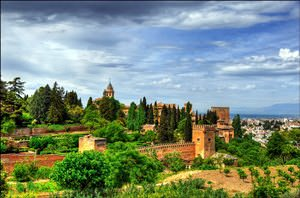 landscape with Alhambra and Granada