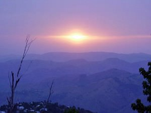 A beautiful Blue Sunset in Muree