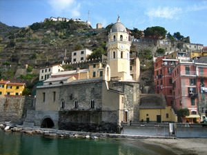 church and tower, vernazza