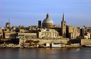 View of Valletta from Sliema - Marsamxett Harbour