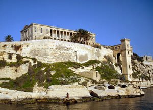 Old Naval Hospital and Lift, The Grand Harbour, Valletta-Three Cities