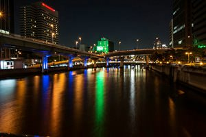 night view in nakanoshima