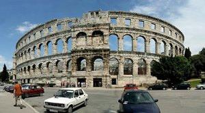Roman arena in Pula, Croatia