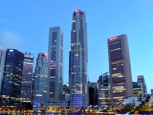 Skyline, Boat Quay, Singapore