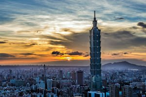 Taipei 101 during sunset