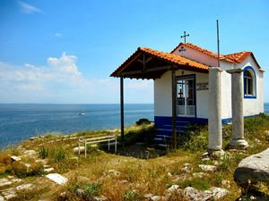 THE LITTLE GREEK CHURCH ON THE CLIFFTOP