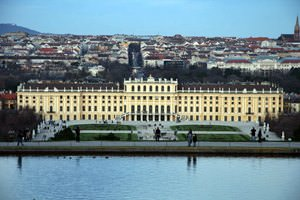 Schonbrunn - overview and lake