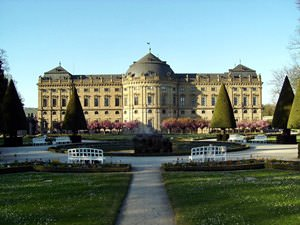 Residenz with Court Gardens in Spring