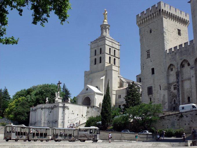 Place du Palais - Metropolitan Basilica, Notre-Dame des Doms, Cathedral of Avignon and Papal Palace