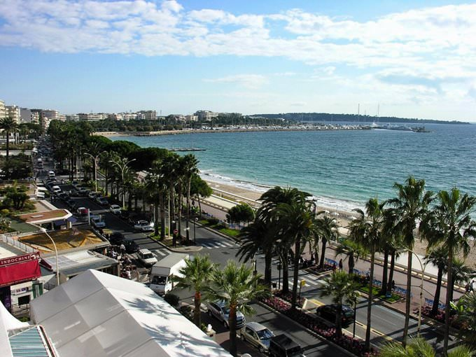 Cannes Beach Panorama