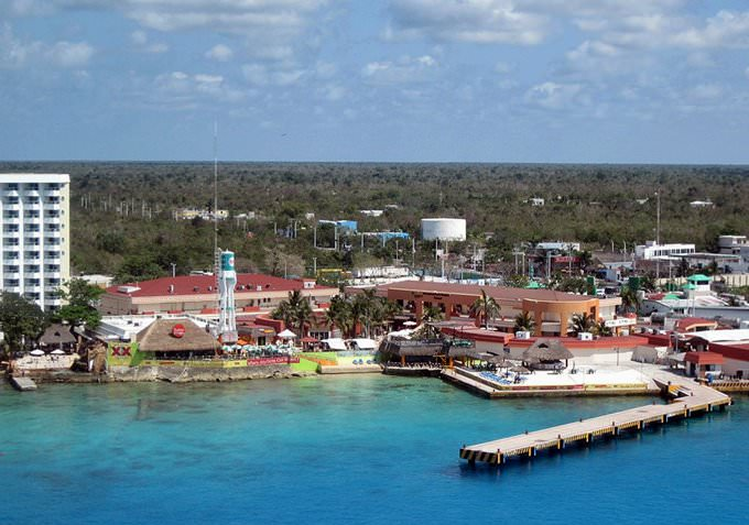 Cozumel - International Pier Area from Ship