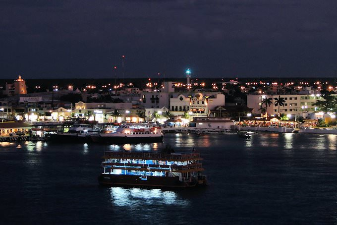 Cozumel at Night, Quintana Roo, Mexico