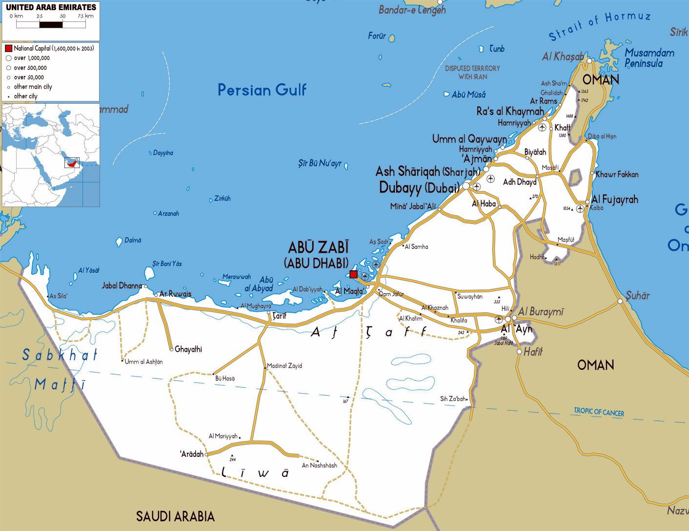 Large Abu Dhabi Region Maps for Free Download and Print | High ...