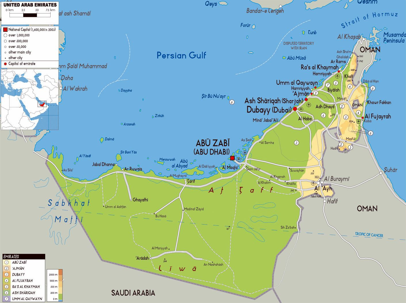 Large Abu Dhabi Region Maps for Free Download and Print ...