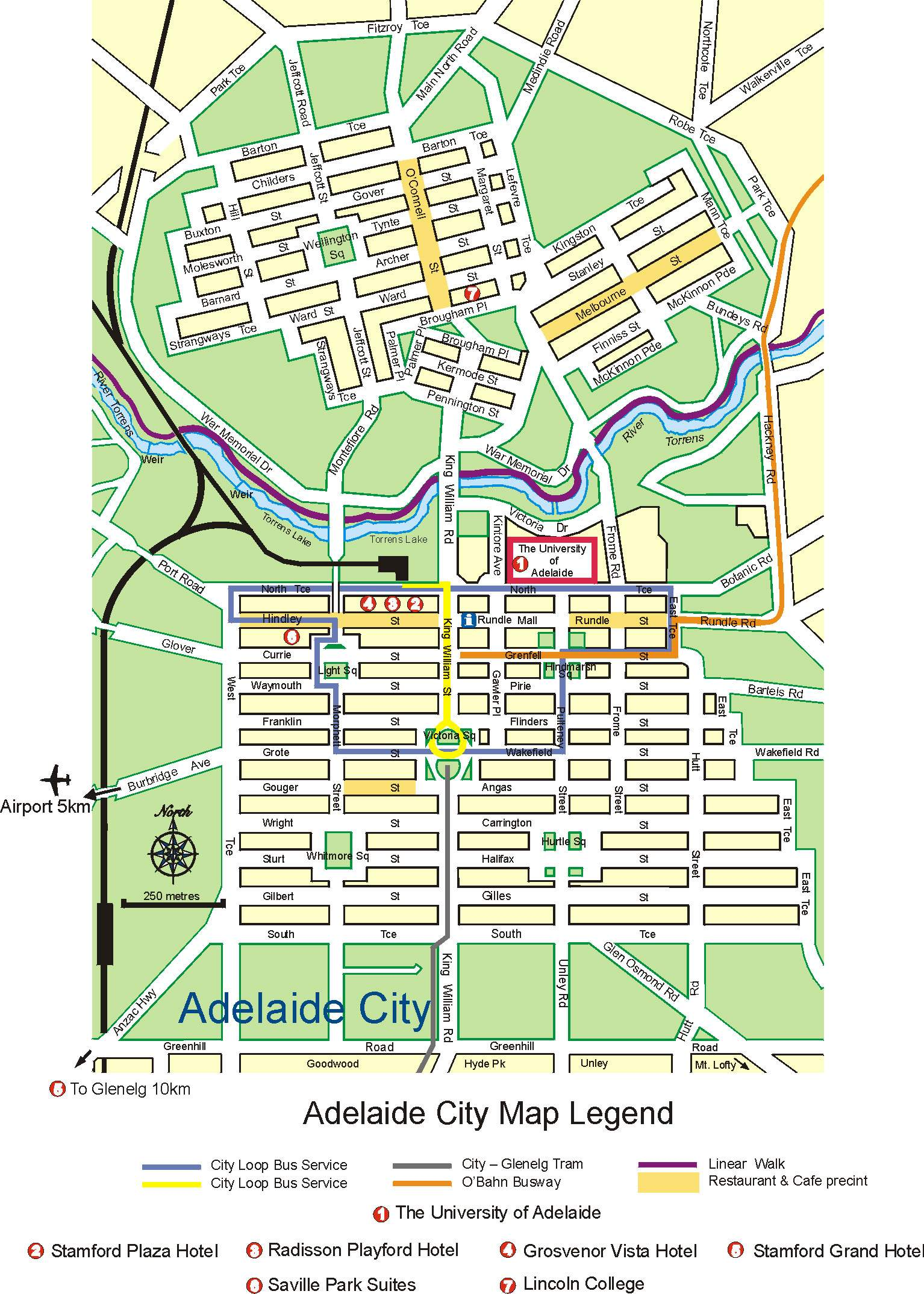 Map Of Adelaide City Large Adelaide Maps for Free Download and Print | High Resolution