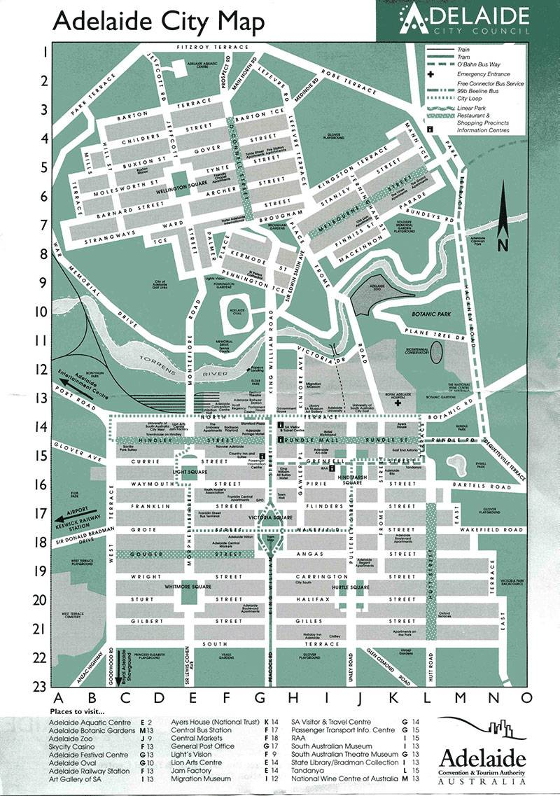 Large Adelaide Maps for Free Download and Print  HighResolution