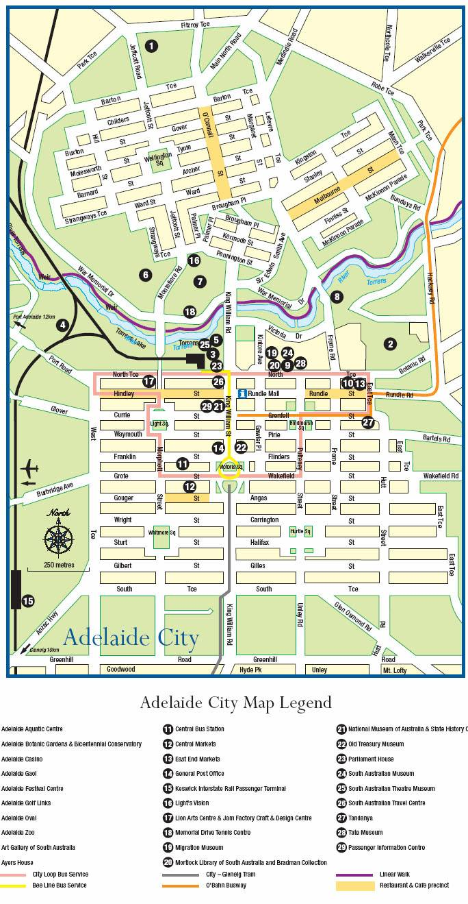 Adelaide Map Of Australia.Large Adelaide Maps For Free Download And Print High Resolution