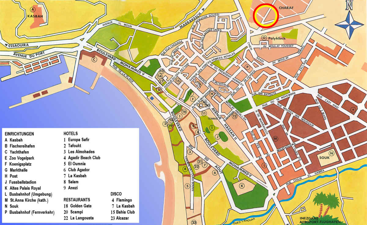 agadir mapa Large Agadir Maps for Free Download and Print | High Resolution  agadir mapa