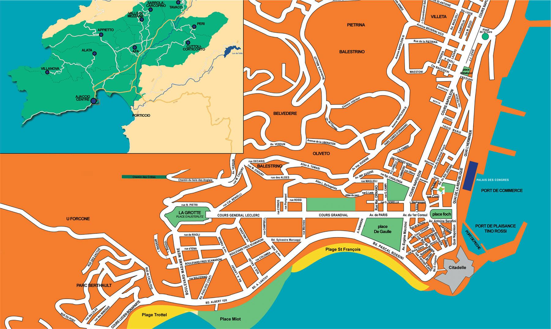 Touring Map Corsica