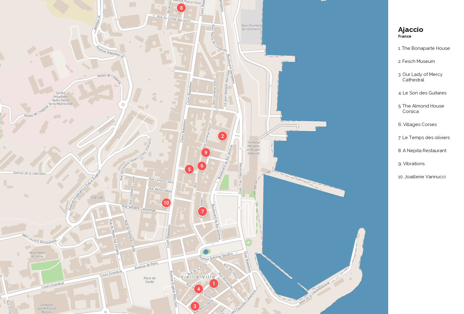 Large Ajaccio Maps for Free Download and Print HighResolution and