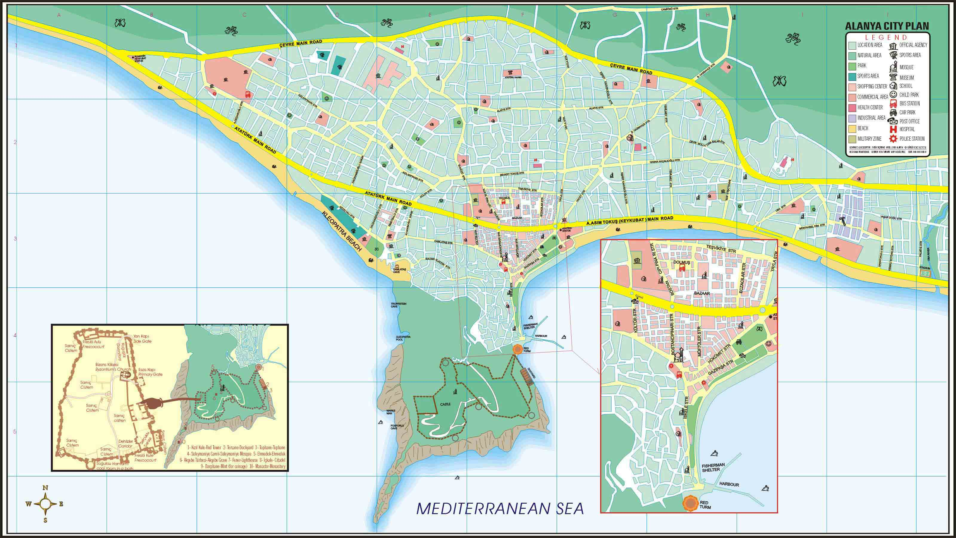Large Alanya Maps for Free Download and Print HighResolution and