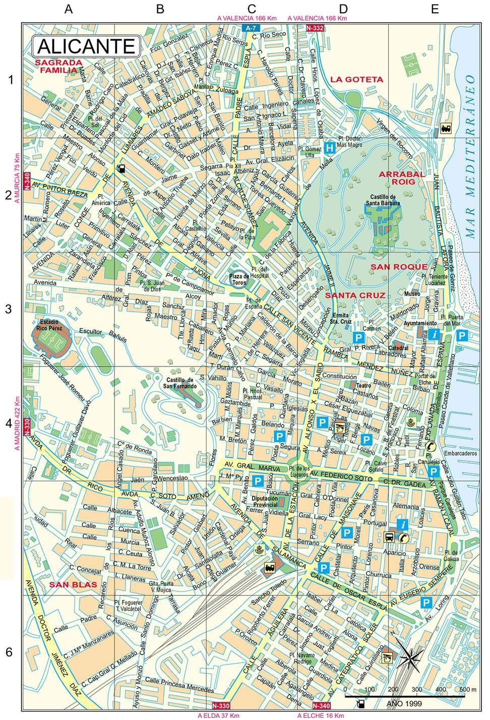 Large Alicante Maps for Free Download and Print HighResolution