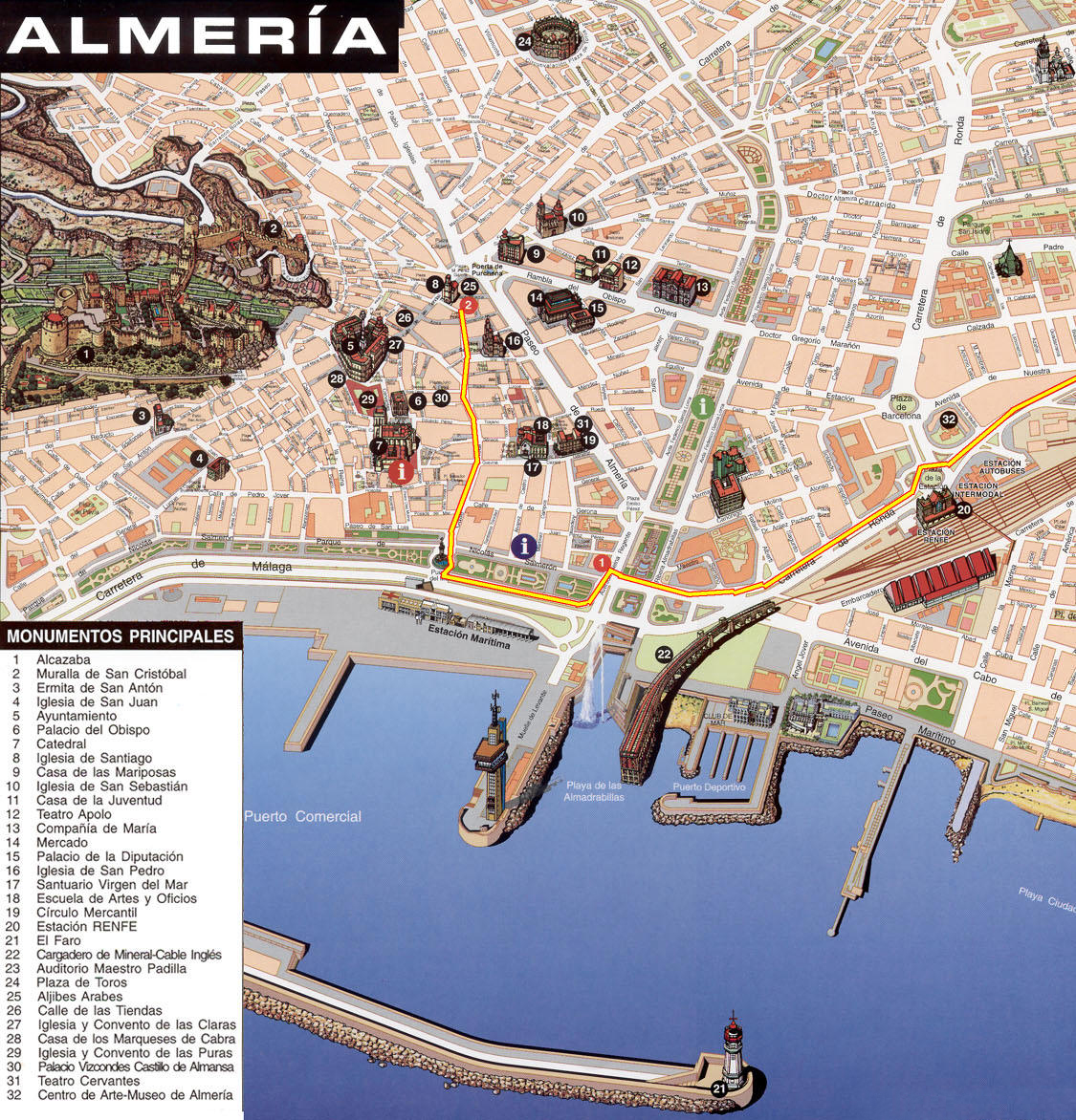 Map Of Spain Almeria.Large Almeria Maps For Free Download And Print High Resolution And