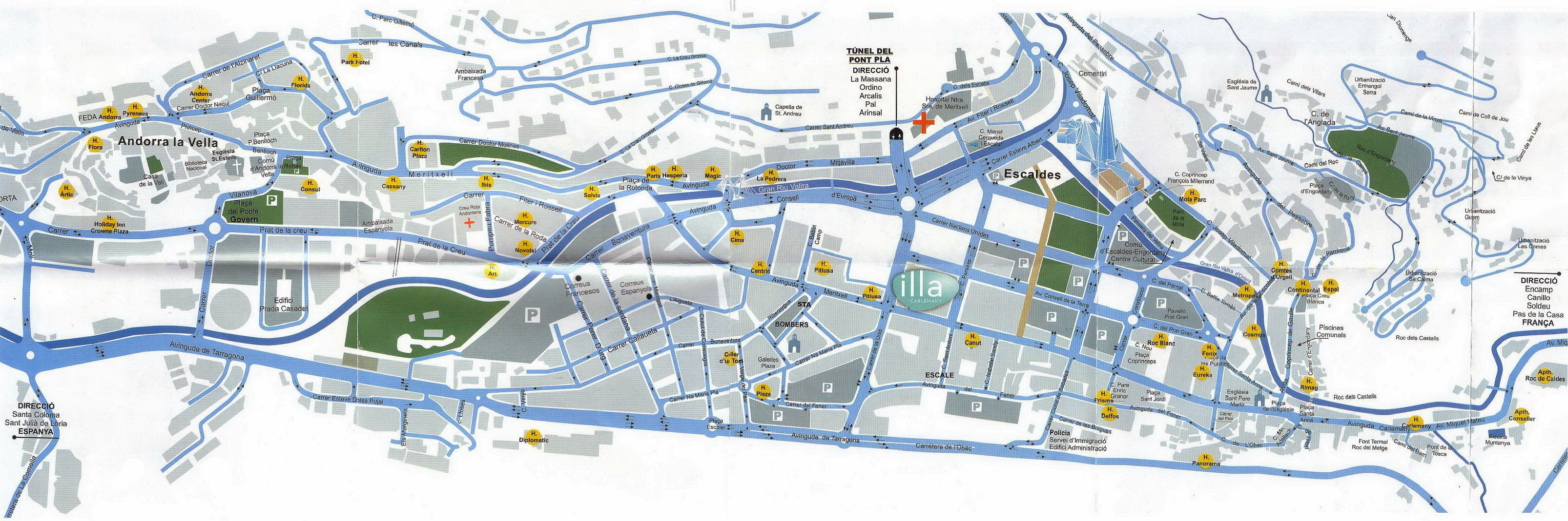 Large Andorra la Vella Maps for Free Download and Print High
