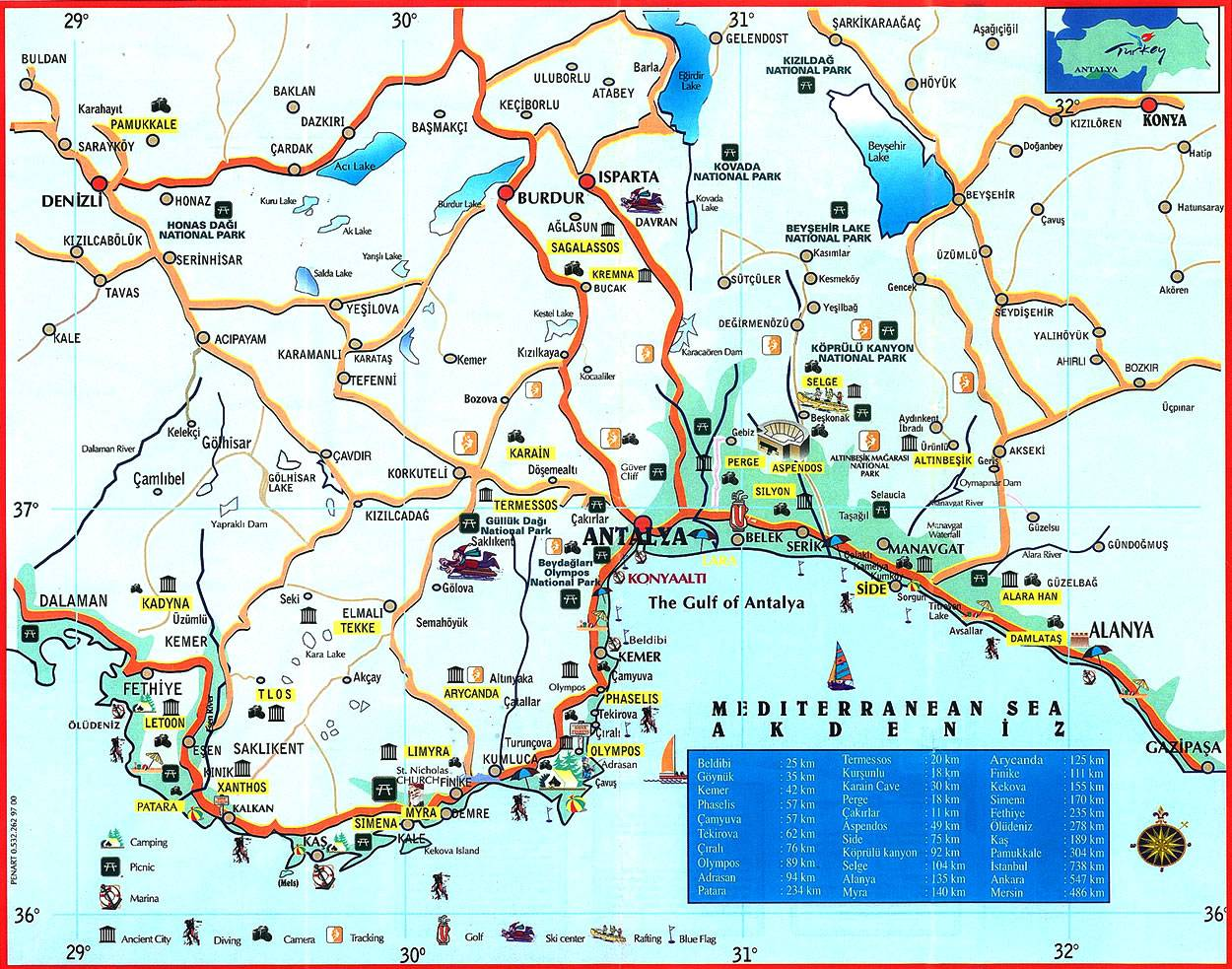 Large Antalya Maps for Free Download and Print HighResolution and