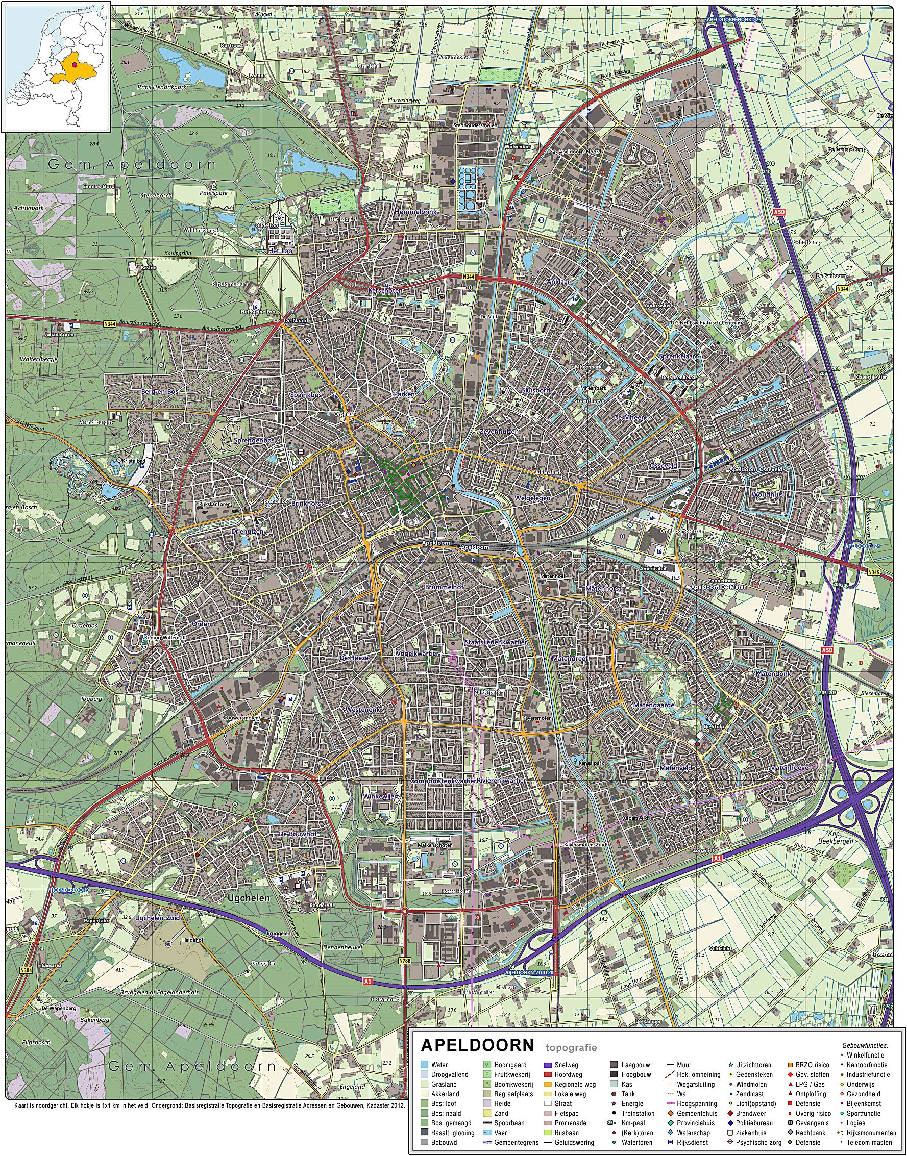 Large Apeldoorn Maps for Free Download and Print HighResolution