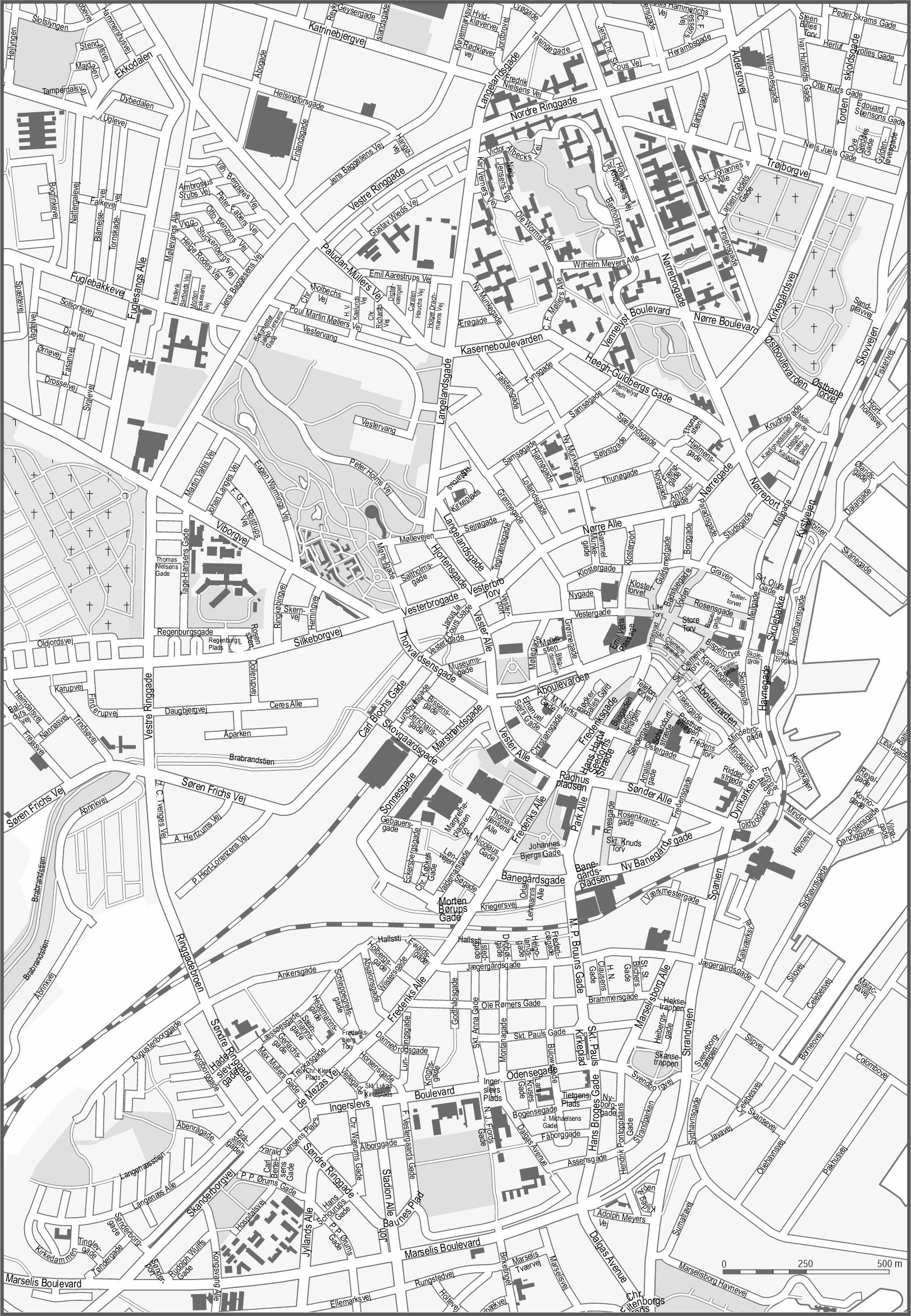 Large Arhus Maps for Free Download and Print HighResolution and
