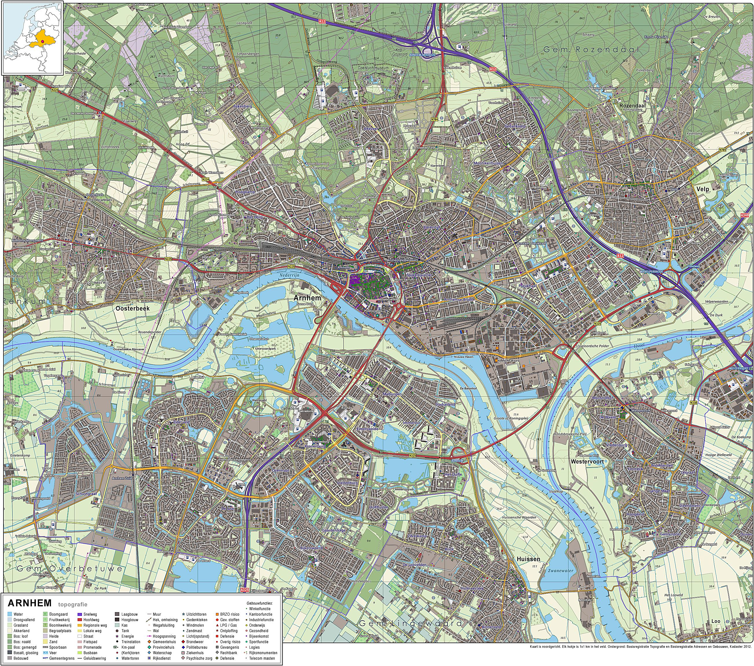 Large Arnhem Maps for Free Download and Print HighResolution and