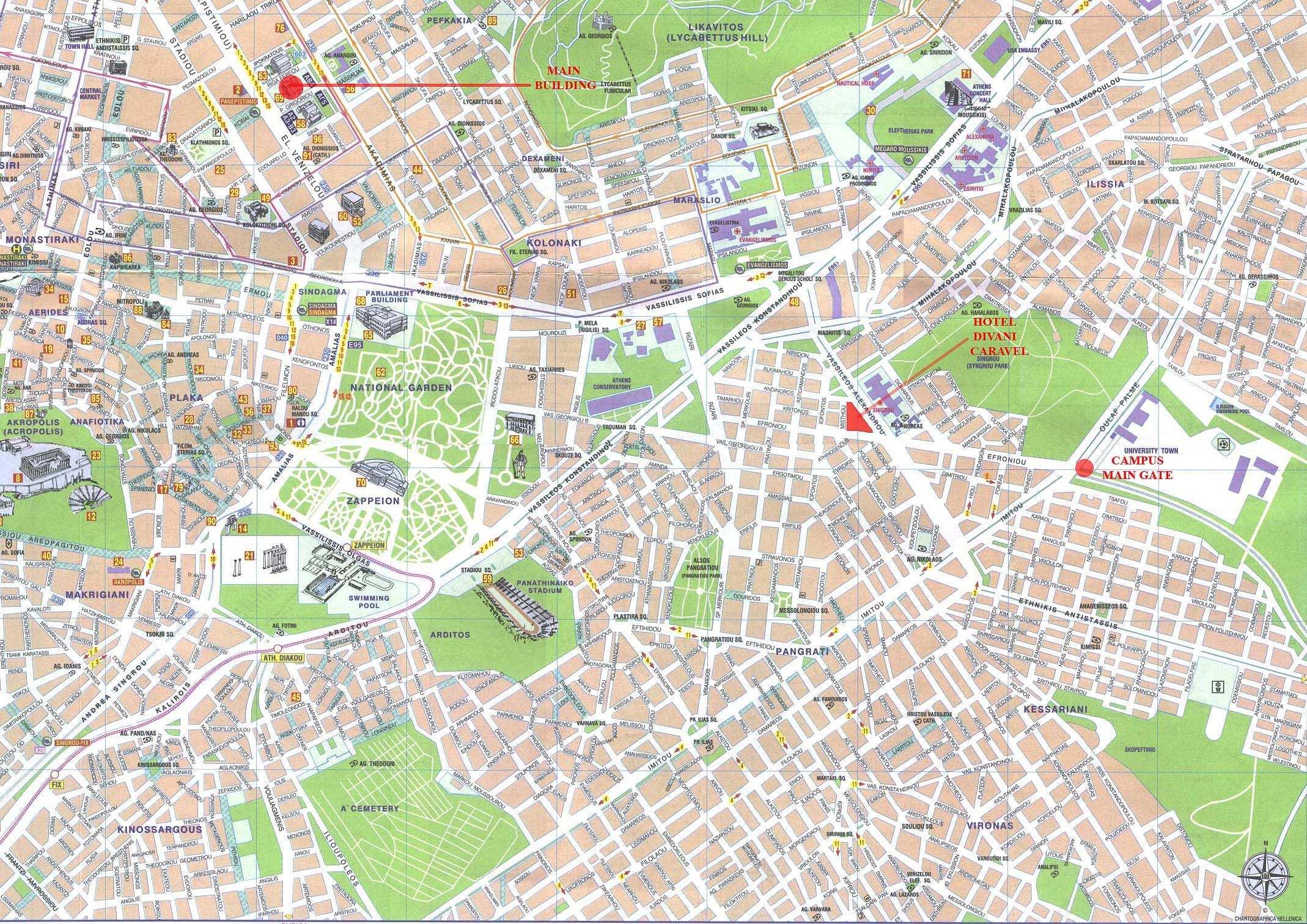 atenas mapa Atenas   plan de la ciudad | Mapas imprimidos de Atenas, Grecia  atenas mapa
