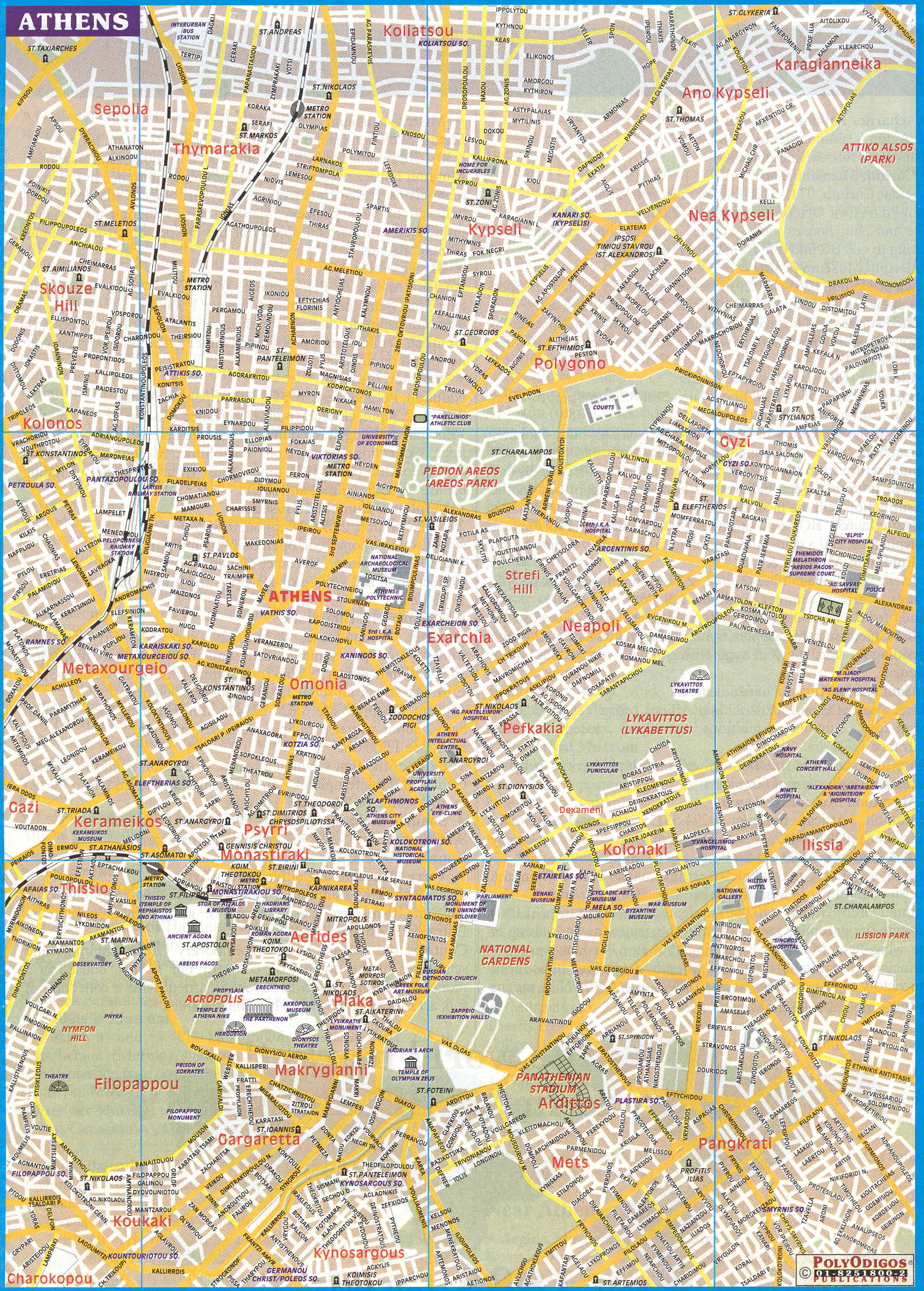 detailed map of athens 2