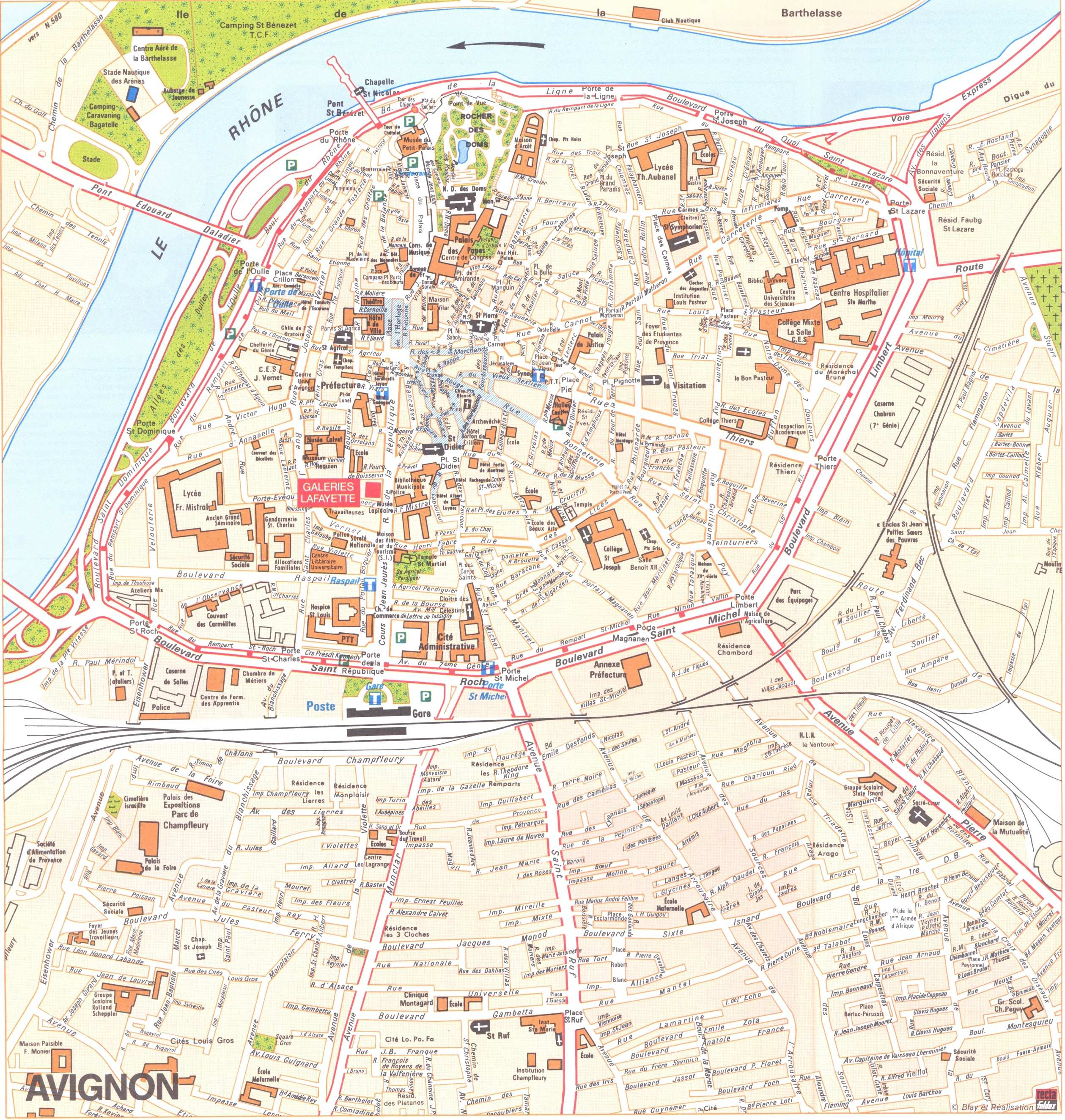 Large Avignon Maps for Free Download and Print HighResolution and