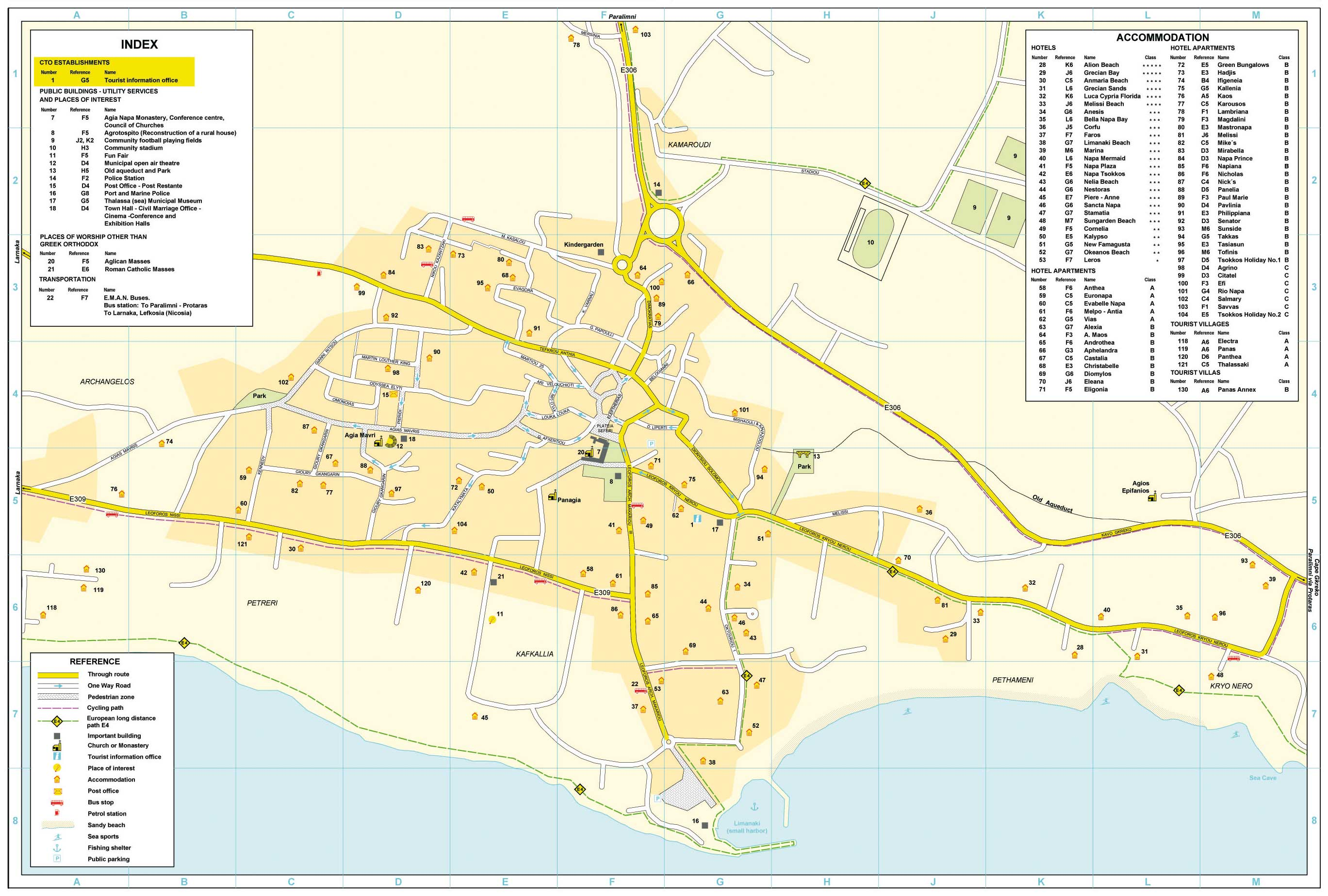 Large Ayia Napa Maps for Free Download and Print HighResolution